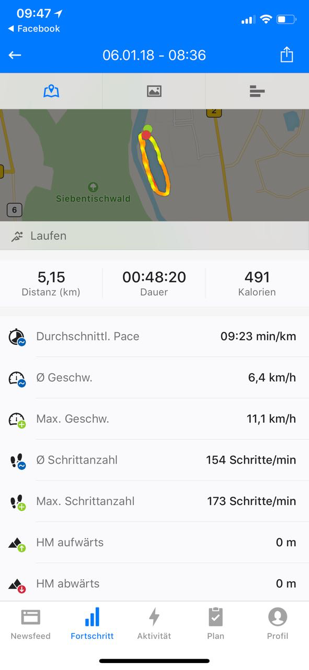 Screenshot Lauftracker Juli